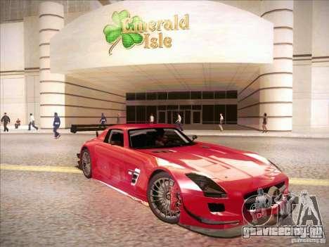 Mercedes-Benz SLS AMG GT-R для GTA San Andreas вид сзади слева