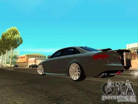Audi S4 2010 для GTA San Andreas вид сзади слева