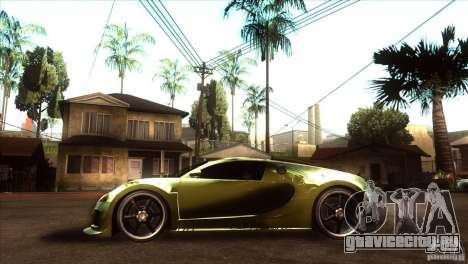 Bugatti Veyron Life Speed для GTA San Andreas вид слева