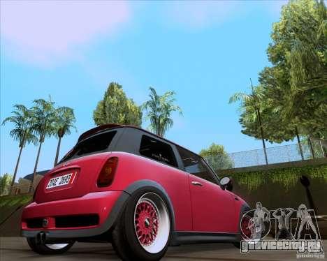 Mini Cooper S Euro для GTA San Andreas вид слева