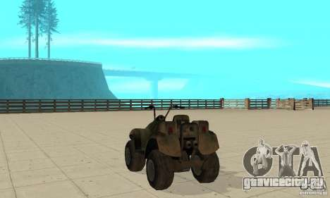 Квадроцикл из TimeShift для GTA San Andreas вид сзади слева