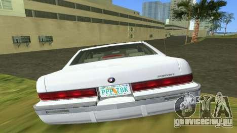 Buick Roadmaster 1994 для GTA Vice City вид изнутри