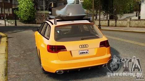 Audi A6 Avant Stanced 2012 v2.0 для GTA 4 вид сзади слева