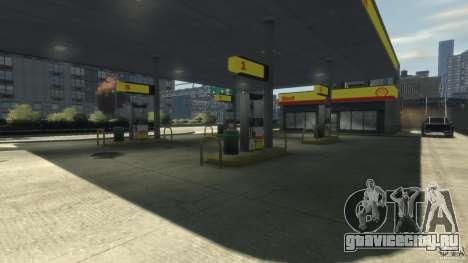 Shell Petrol Station для GTA 4 третий скриншот