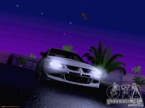 Mitsubishi Lancer Evolution VIII для GTA San Andreas салон