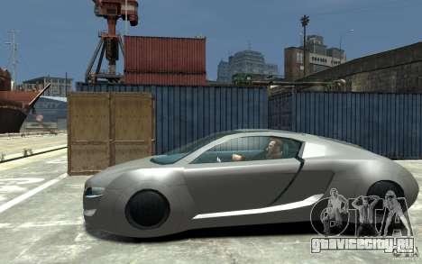 Audi RSQ Concept для GTA 4 вид слева