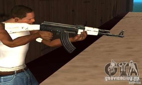 Snow AK47 (Снежный АК47) для GTA San Andreas третий скриншот