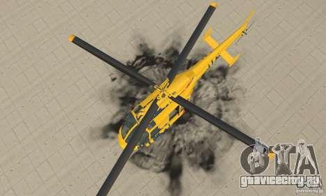 Экскурсионный вертолёт из gta 4 для GTA San Andreas вид справа