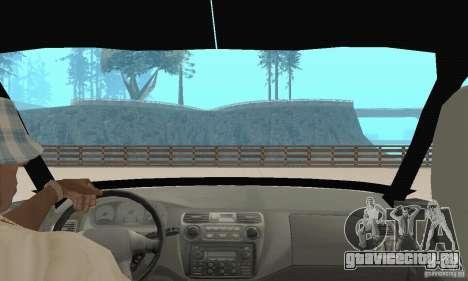 Mitsubishi Galant для GTA San Andreas вид изнутри