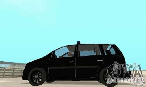 Volkswagen Touran 2006 Police для GTA San Andreas вид справа