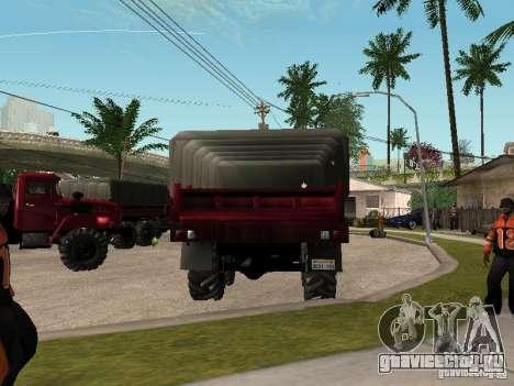 Урал-4320 для GTA San Andreas вид сзади
