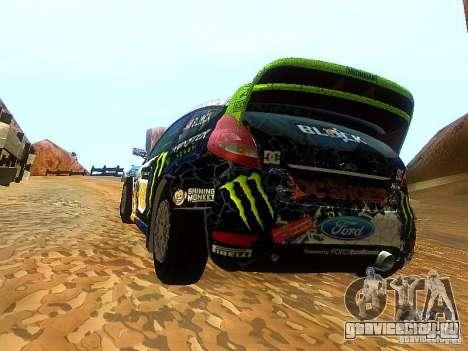 Ford Fiesta RS WRC 2012 для GTA San Andreas вид сзади слева