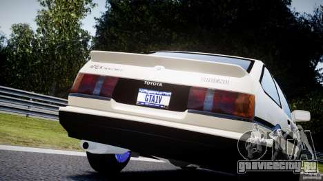 Toyota AE86 TRUENO Initial D для GTA 4 вид сбоку
