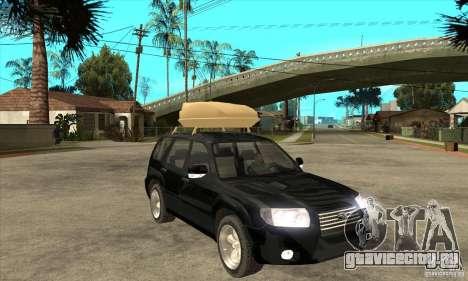 Subaru Forester 2005 для GTA San Andreas вид сзади