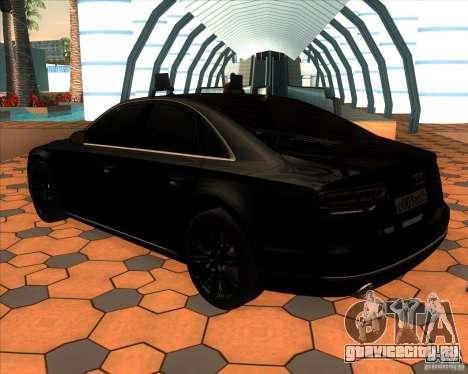 Audi A8 2010 v2.0 для GTA San Andreas вид сзади слева