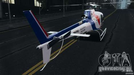 Eurocopter AS350 Ecureuil (Squirrel) Malaysia для GTA 4 вид справа