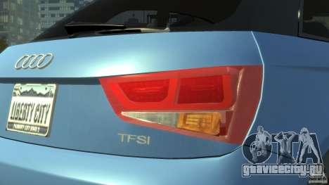 Audi A1 для GTA 4 вид изнутри