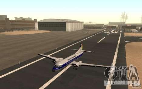 YS-11 для GTA San Andreas вид сзади слева