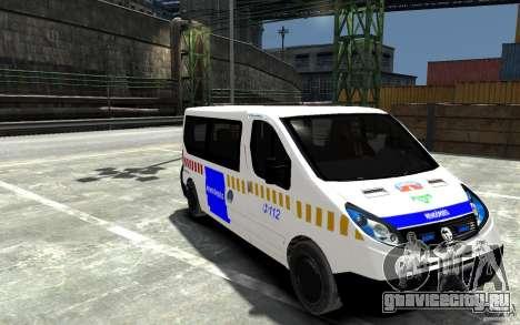 Opel Vivaro Hungarian Police Van для GTA 4 вид сзади