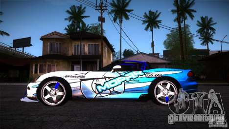 Dodge Viper Mopar Drift для GTA San Andreas