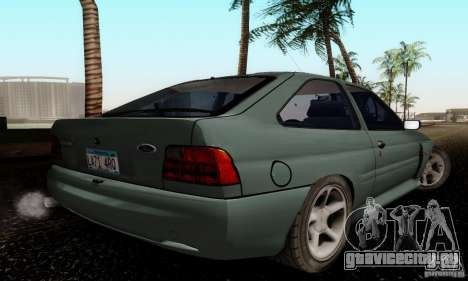 Ford Escort RS Cosworth для GTA San Andreas вид сзади слева