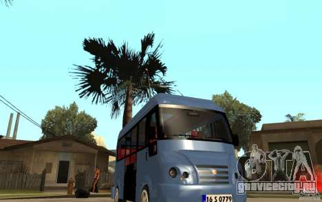 Karsan J10 для GTA San Andreas вид сзади