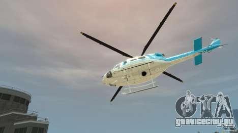 NYPD Bell 412 EP для GTA 4 вид сзади