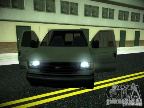 Ford E150 2000 для GTA San Andreas вид изнутри