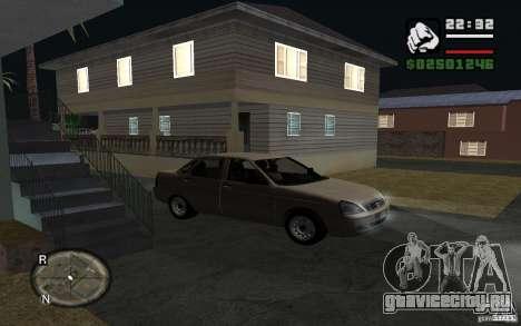 Лада Приора light tuning для GTA San Andreas вид справа