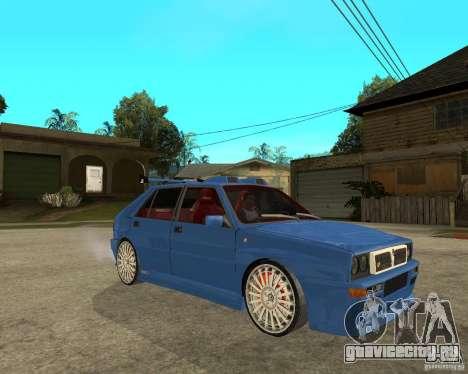 Lancia Delta Sparco для GTA San Andreas вид справа
