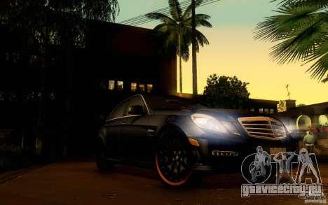 Mercedes Benz E63 DUB для GTA San Andreas вид снизу