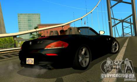 BMW Z4 2010 для GTA San Andreas вид изнутри