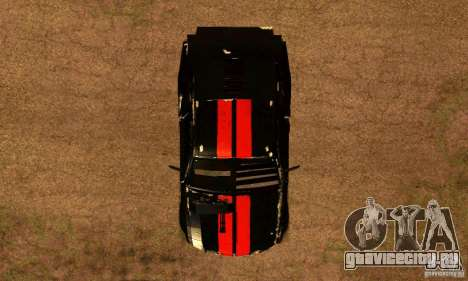Ford Mustang Shelby GT500 From Death Race Script для GTA San Andreas вид справа