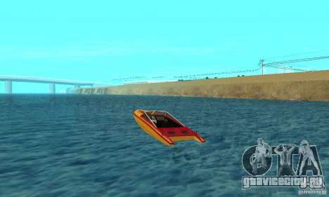 GTAIV Jetmax для GTA San Andreas вид сзади слева