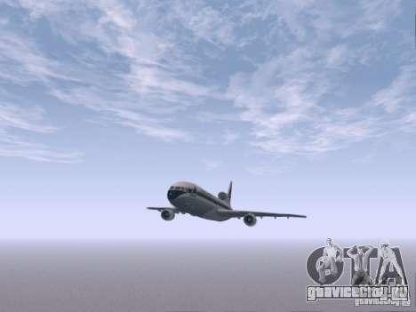 L1011 Tristar Delta Airlines для GTA San Andreas вид изнутри