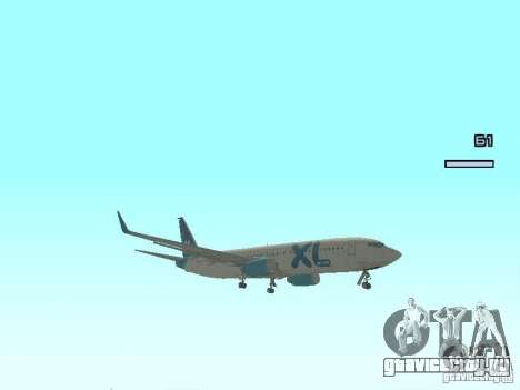 XL Airways 737-800 для GTA San Andreas вид слева