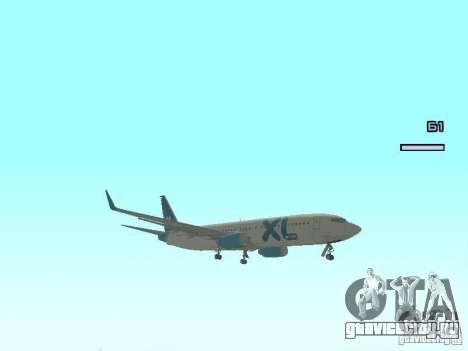 XL Airways 737-800 для GTA San Andreas вид слева