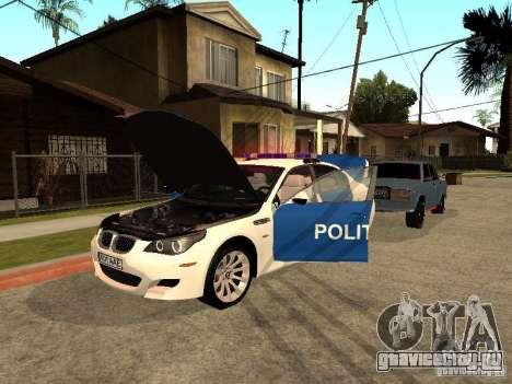 BMW 5-er Police для GTA San Andreas вид сбоку
