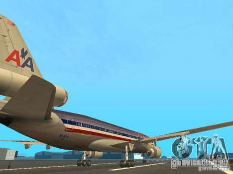 McDonell Douglas MD11 American Airlines для GTA San Andreas вид справа