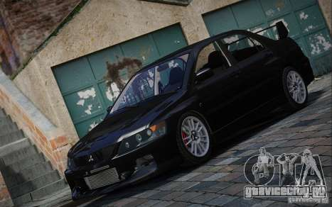 Mitsubishi Lancer Evolution IX MR 2006 для GTA 4 вид сзади слева