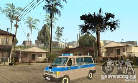 Volkswagen Transporter T4 German Police для GTA San Andreas