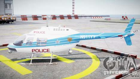 Bell 206 B - Chicago Police Helicopter для GTA 4 вид слева