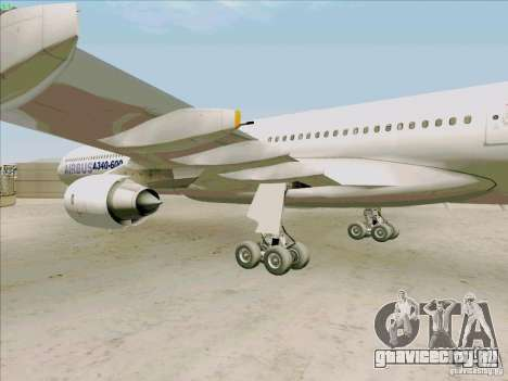 Airbus A-340-600 для GTA San Andreas вид сзади
