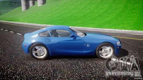 BMW Z4 Coupe v1.0 для GTA 4 вид сзади слева