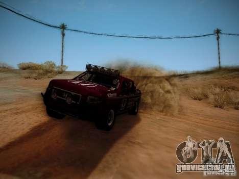 Honda Ridgeline Baja для GTA San Andreas вид сзади слева