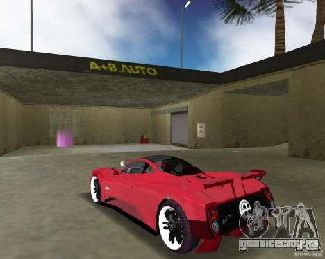 Pagani Zonda S для GTA Vice City вид сзади слева