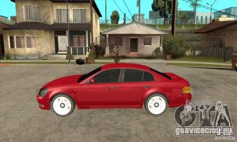 GTA IV Intruder для GTA San Andreas вид слева
