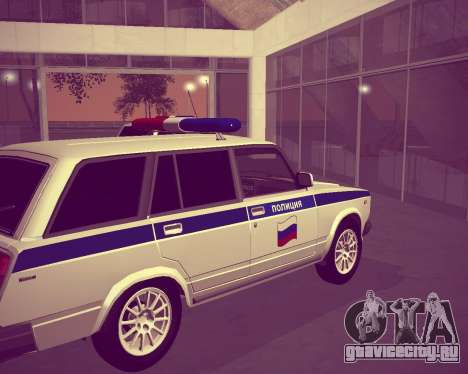 ВАЗ 21047 Полиция для GTA San Andreas вид сзади слева