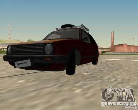 VW Golf II Shadow Crew для GTA San Andreas вид сзади слева