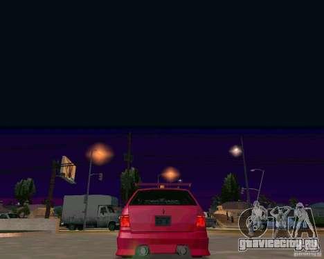 Stratum Tuned Taxi для GTA San Andreas вид изнутри